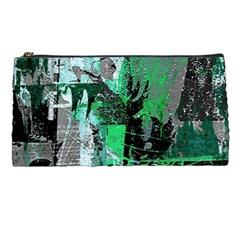 Green Urban Graffiti Pencil Case by ArtistRoseanneJones
