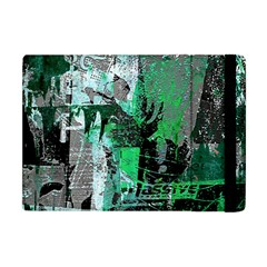 Green Urban Graffiti Apple Ipad Mini Flip Case by ArtistRoseanneJones