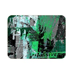 Green Urban Graffiti Double Sided Flano Blanket (mini) by ArtistRoseanneJones