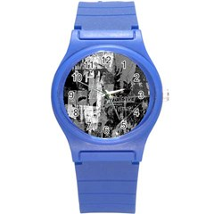 Urban Graffiti Plastic Sport Watch (small) by ArtistRoseanneJones