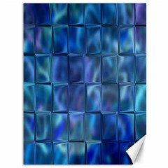 Blue Squares Tiles Canvas 36  X 48  (unframed) by KirstenStar
