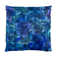 Blue Squares Tiles Cushion Case (single Sided)  by KirstenStar