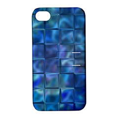 Blue Squares Tiles Apple Iphone 4/4s Hardshell Case With Stand by KirstenStar