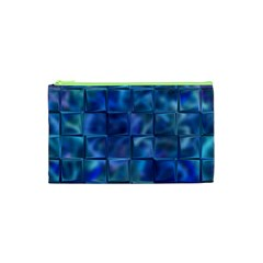 Blue Squares Tiles Cosmetic Bag (xs) by KirstenStar