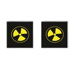 Hazzard Warning Cufflinks (Square) by MadWorldGraffixx
