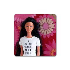 I Am Beautiful   Miko Magnet (square) by tiffanygholar