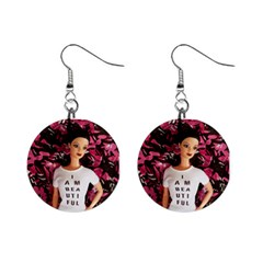 I am beautiful - Isabela Mini Button Earrings by tiffanygholar