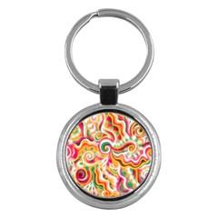 Sunshine Swirls Key Chain (round) by KirstenStar