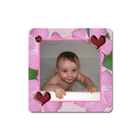 Ladybug Hearts Magnet Square By Chere s Creations   Magnet (square)   No8wtwy4w9e7   Www Artscow Com Front