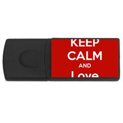 Keep Calm And Love Music 5739 4gb Usb Flash Drive (rectangle)