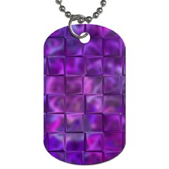 Purple Squares Dog Tag (two Sided)  by KirstenStar