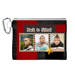 Back To School  By School   Canvas Cosmetic Bag (large)   Lwyzg39wd3hz   Www Artscow Com Front