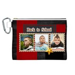 back to school  - Canvas Cosmetic Bag (Large)