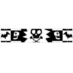 Goth Punk Skull Checkers Flano Scarf (large) by ArtistRoseanneJones