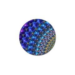 Blue Sunrise Fractal Golf Ball Marker by KirstenStar