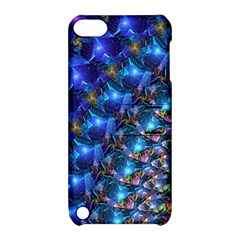 Blue Sunrise Fractal Apple Ipod Touch 5 Hardshell Case With Stand by KirstenStar