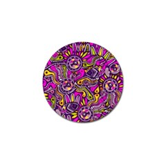 Purple Tribal Abstract Fish Golf Ball Marker 4 Pack by KirstenStar