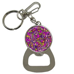 Purple Tribal Abstract Fish Bottle Opener Key Chain by KirstenStar