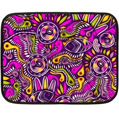 Purple Tribal Abstract Fish Mini Fleece Blanket (two Sided) by KirstenStar