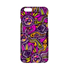Purple Tribal Abstract Fish Apple Iphone 6 Hardshell Case by KirstenStar
