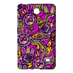 Purple Tribal Abstract Fish Samsung Galaxy Tab 4 (7 ) Hardshell Case  by KirstenStar