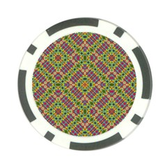 Multicolor Geometric Ethnic Seamless Pattern Poker Chip by dflcprints