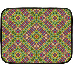 Multicolor Geometric Ethnic Seamless Pattern Mini Fleece Blanket (two Sided) by dflcprints