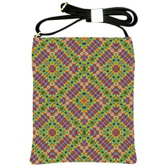 Multicolor Geometric Ethnic Seamless Pattern Shoulder Sling Bag by dflcprints