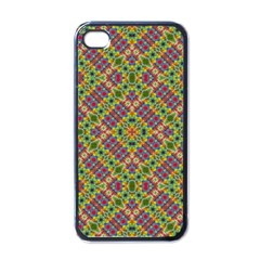 Multicolor Geometric Ethnic Seamless Pattern Apple Iphone 4 Case (black) by dflcprints