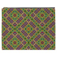 Multicolor Geometric Ethnic Seamless Pattern Cosmetic Bag (xxxl) by dflcprints