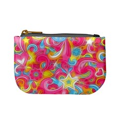 Hippy Peace Swirls Coin Change Purse by KirstenStar