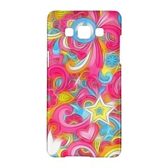 Hippy Peace Swirls Samsung Galaxy A5 Hardshell Case  by KirstenStar