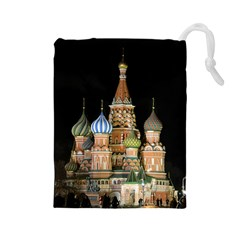 Saint Basil s Cathedral  Drawstring Pouch (large) by anstey