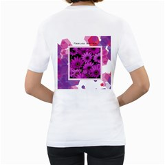 Abstract Two Sided (women) By Joy   Women s T Shirt (white) (two Sided)   D8ezzk6v90mr   Www Artscow Com Back