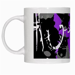 Purple Scene Kid White Coffee Mug by ArtistRoseanneJones