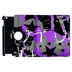 Purple Scene Kid Apple Ipad 2 Flip 360 Case by ArtistRoseanneJones