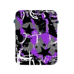 Purple Scene Kid Apple iPad Protective Sleeve by ArtistRoseanneJones