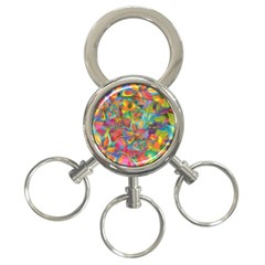 Colorful Autumn 3 Ring Key Chain by KirstenStar