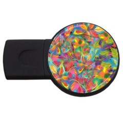 Colorful Autumn 4gb Usb Flash Drive (round) by KirstenStar