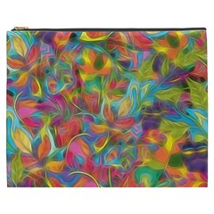 Colorful Autumn Cosmetic Bag (xxxl) by KirstenStar