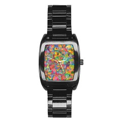 Colorful Autumn Stainless Steel Barrel Watch by KirstenStar