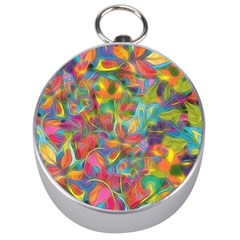 Colorful Autumn Silver Compass by KirstenStar