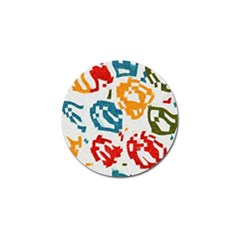 Colorful Paint Stokes Golf Ball Marker (4 Pack) by LalyLauraFLM