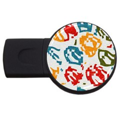 Colorful Paint Stokes Usb Flash Drive Round (2 Gb) by LalyLauraFLM