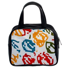 Colorful Paint Stokes Classic Handbag (two Sides) by LalyLauraFLM