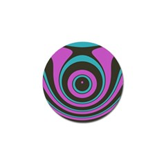Distorted Concentric Circles Golf Ball Marker (10 Pack) by LalyLauraFLM