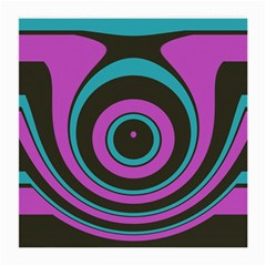 Distorted Concentric Circles Medium Glasses Cloth (2 Sides) by LalyLauraFLM