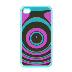 Distorted Concentric Circles Apple Iphone 4 Case (color) by LalyLauraFLM