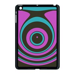 Distorted Concentric Circles Apple Ipad Mini Case (black) by LalyLauraFLM