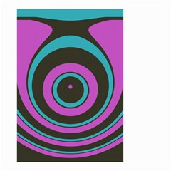 Distorted concentric circles Small Garden Flag by LalyLauraFLM